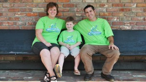 DAILY LEADER / RHONDA DUNAWAY / Lisa Melancon Webb, (from left) Lee Webb and Jason Webb are busy promoting the Walk for Children with Apraxia of Speech, coming up Saturday at the Hansel King Sportsplex. Lee was diagnosed with the disorder three years ago, and he and his family hope to help others like him.