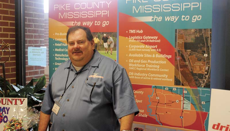 DAILY LEADER / JUSTIN VICORY / Britt Herrin, executive director of the Pike County Chamber of Commerce, said Thursday he anticipates a major economic benefit for the area thanks to new energy extraction technologies.