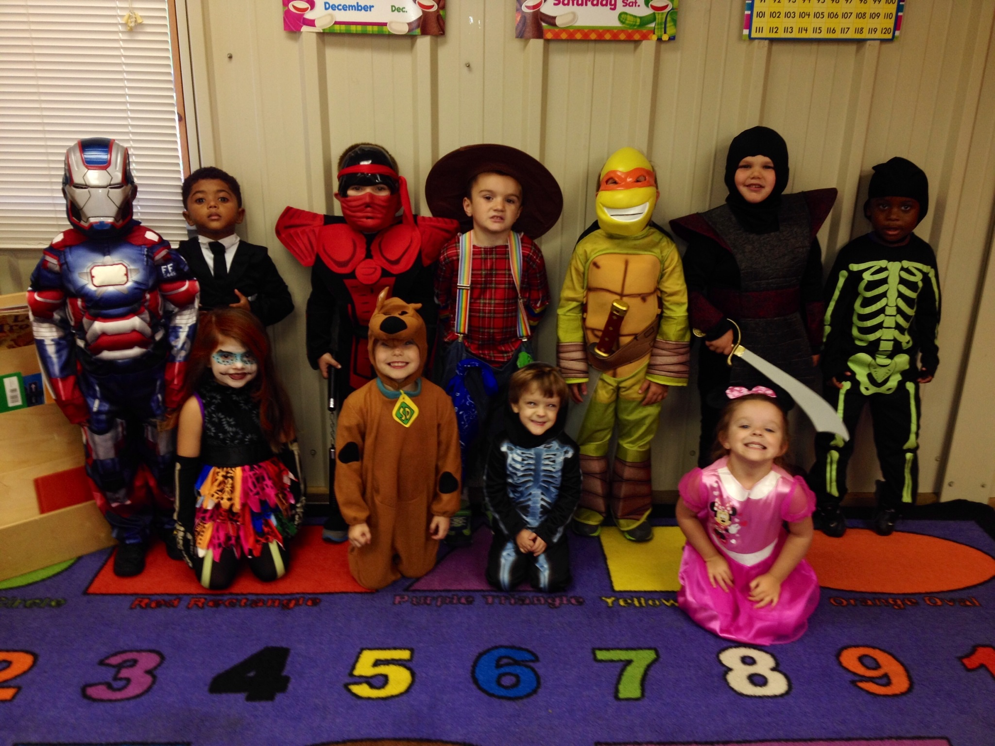 PHOTO SUBMITTED / Ms. Toni's 4 year-old class at Precious Moments Learning Center in Wesson was decked out in style Thursday.