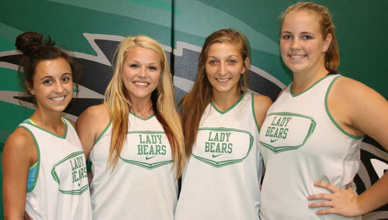 DAILY LEADER / MARTY ALBRIGHT / Providing senior leadership for the West Lincoln Lady Bears are (from left) Karley Smith, Destiny Allen, Heather Moak and Bentley Sills.