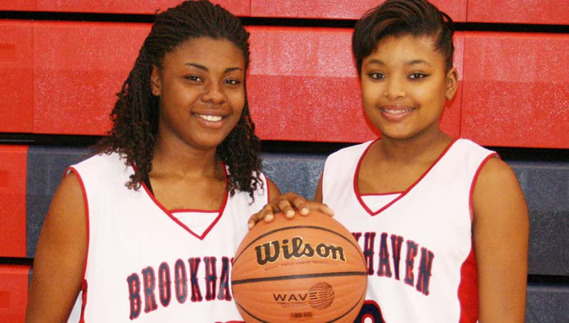DAILY LEADER / MARTY ALBRIGHT / Brookhaven Lady Panther seniors include (from left) Diamond Herring and Fredericka Fairman.