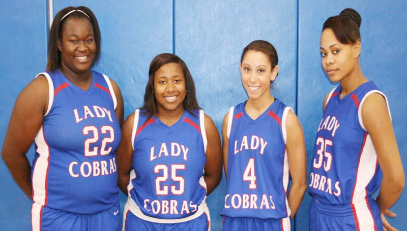 DAILY LEADER / MARTY ALBRIGHT / Wesson Lady Cobras seniors are (from left) Xzaviah James, Gabby Thomas, Brandi McInnis and LaCatherine Hence.