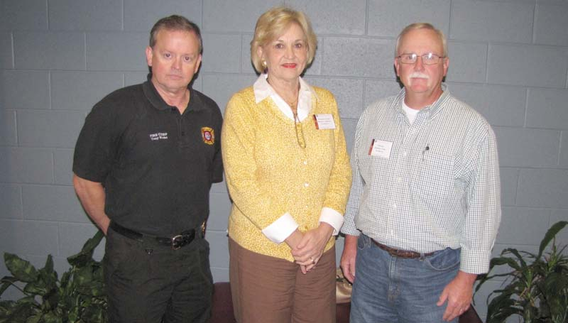 PHOTO SUBMITTED / Representing Brookhaven at the recent Fire Academy for Elected and Public Officials in Jackson were (from left) Fire Chief Tony Weeks, Alderman-at-Large Karen L. Sullivan and Alderman Fletcher Grice.
