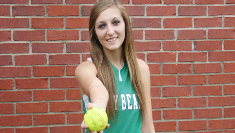 DAILY LEADER / MARTY ALBRIGHT / ALL-AREA SLOWPITCH SOFTBALL DEFENSIVE PLAYER-HEATHER MOAK-WEST LINCOLN