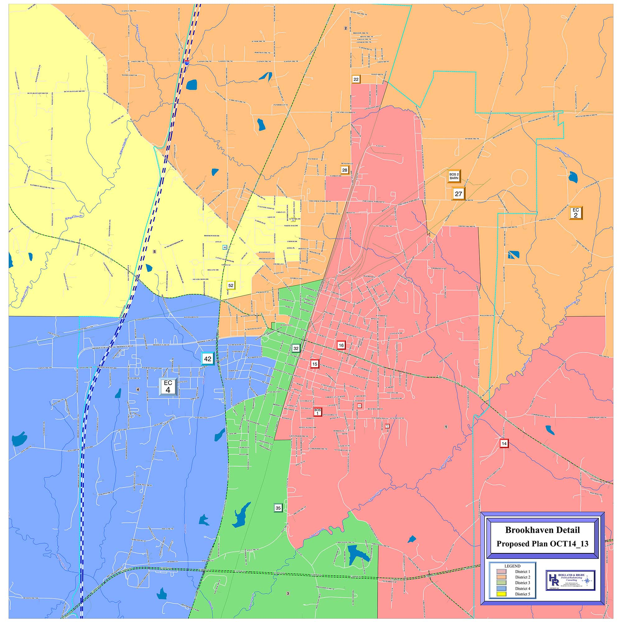 Courtesy of Holland & Rigby / Proposed redistricting map of Lincoln County, which was provided by Holland & Rigby Political Redistricting Consulting of Madison.