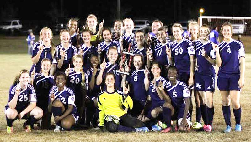 DAILY LEADER / AMY RHOADS / The Franklin County girls soccer team are currently undefeated with an 11-0 record this season. Members of the Lady Bulldogs team are Jaden Long, Cheyenne Higgs, Kenzie Whitehead, Brooklyn Bolin, Se'Edriq Middleton, Amanda Hill, Krislyn Kent, Taylor Williams, Tye Sutton, Harley McKay, Jourdon Cummings, Noel Parker, Kelsi Batton, Leigh Beth Hurst, Chase Freeman, Justice Walker, Brianna Brumfield, Chaddarius Wilson, Shelby Smith, Dashada Harris, Anna Grace Wilson, Emily Strittman, Elizabeth Foreman, Macy Zisken, Taylor Moak, Gabe Kelley, Tristan Smith and Morgan Moak.
