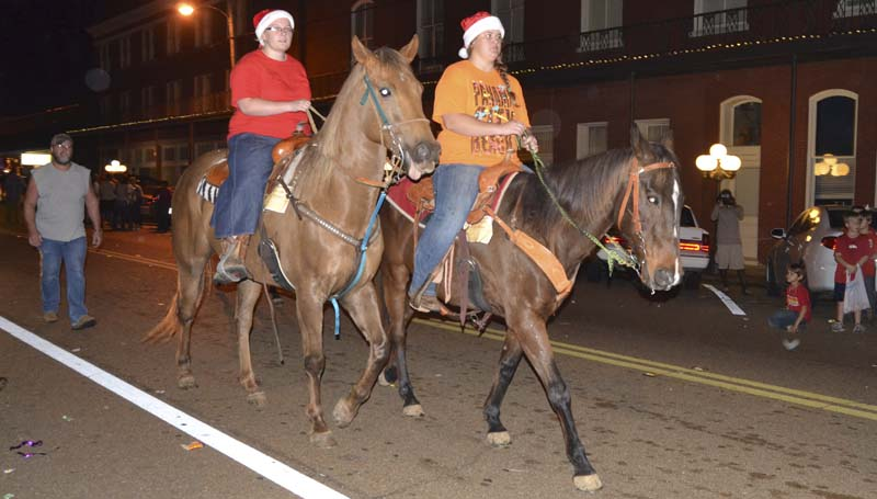 Horses made a return to the Christmas parade this year after several years' absence.