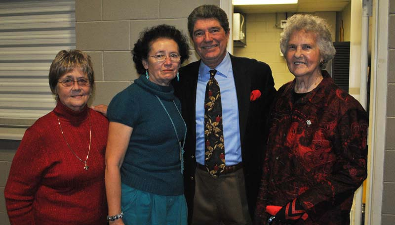 THE DAILY LEADER / RHONDA DUNAWAY / Jean Elliott (from left), Julia King, entertainer Guy Hovis and Reba Smith were among those attending Tuesday's annual Prime of Life event sponsored by Trustmark Bank at the Lincoln Civic Center. The evening featured musician Hovis playing guitar and keyboard. He was a musician on the Lawrence Welk show.