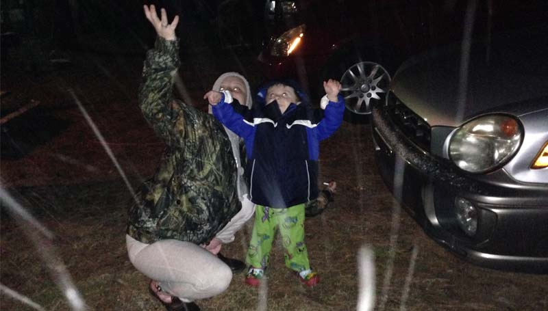 PHOTO SUBMITTED / Trying to catch the snowflakes.