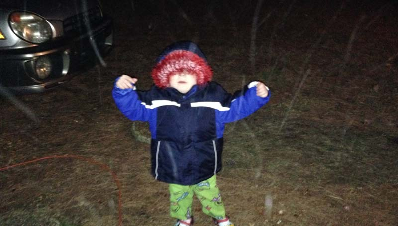 PHOTO SUBMITTED / It's snowing!