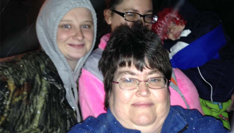 PHOTO SUBMITTED / Watching the snow fall Thursday night.