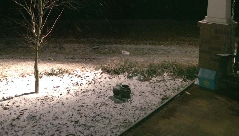 PHOTO SUBMITTED / Snow blankets the ground in the Union Church area.
