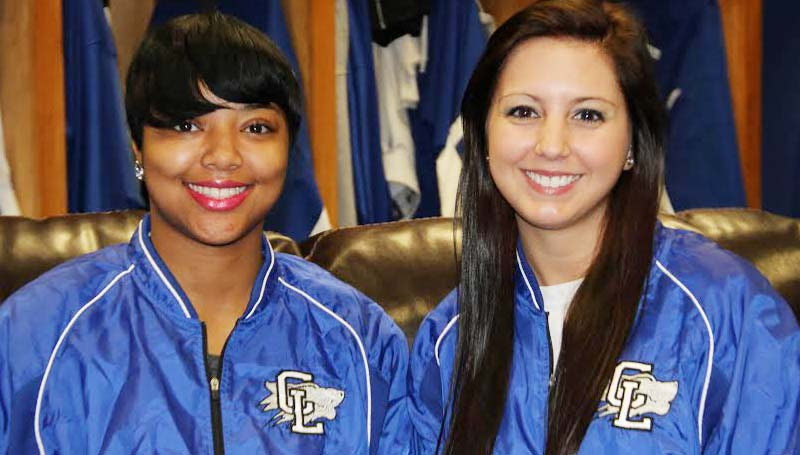 CO-LIN MEDIA / NATALIE DAVIS /  DIAMOND DOLLS - Selected as 2014 Diamond Dolls for the Copiah-Lincoln Community College baseball are Mildred Starks of Roxie (left) and Shannon Mire of Natchez.
