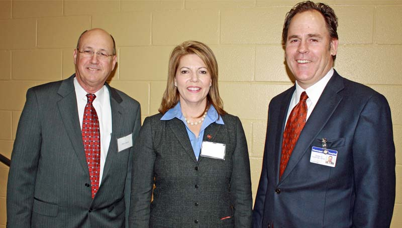 PHOTO SUBMITTED / Sen. Sally Doty (center) was among those honored at an appreciation luncheon for the state's legislators presented by Supporters of Mississippi State Hospital (MSH) and Hudspeth Regional Center. Also pictured are Hudspeth Regional Center Director Mike Harris (left) and Mississippi State Hospital Director James G. Chastain.