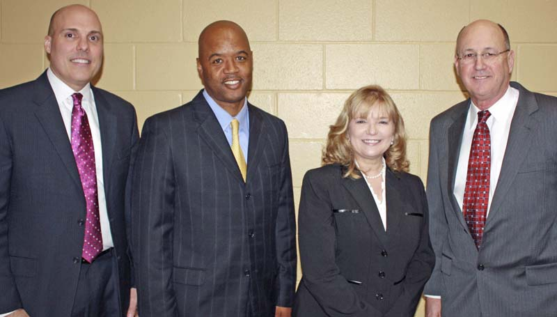 PHOTO SUBMITTED / Rep. Becky Currie (third from left) was among those honored at an appreciation luncheon for the state's legislators presented by supporters of Mississippi State Hospital and Hudspeth Regional Center. Also pictured are Jaquith Nursing Home Director Dr. Marc Lewis, Hudspeth Regional Center Assistant Director Jerrie Barnes and Hudspeth Regional Center Director Mike Harris.