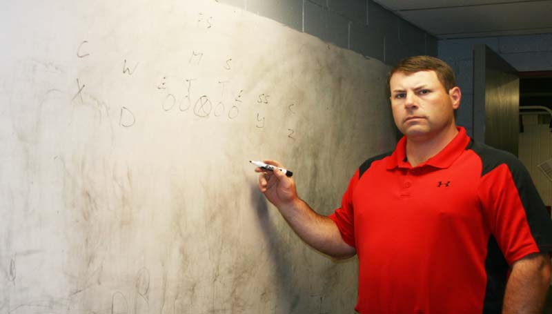 DAILY LEADER / MARTY ALBRIGHT / Lawrence County's new head football coach Jaymie Palmer is ready to get the season started.