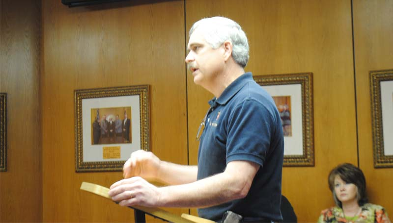 THE DAILY LEADER / JUSTIN VICORY / Lincoln Civic Center representative William Kimble requests future funding for construction projects at the center.