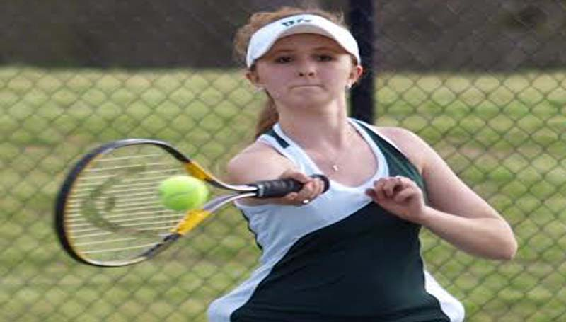 DAILY LEADER / TRACY FISCHER / West Lincoln's Caroline Lairds wins the Girls Singles matchup against Bogue Chitto Wednesday.