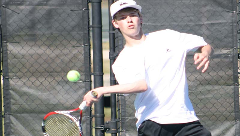 DAILY LEADER / MARTY ALBRIGHT / Brookhaven Academy's Grant Melancon opens the season with a win over Central Hinds in Boys Singles tennis action Thursday.
