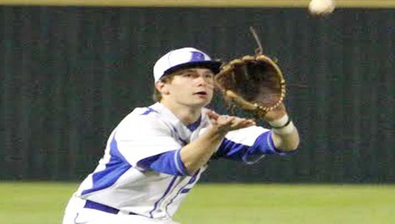 DAILY LEADER / SHERYLYN EVANS / Brookhaven Academy third baseman Parker Myrick and his fellow teammates will be in action today in Natchez to play the ACCS Rebels.