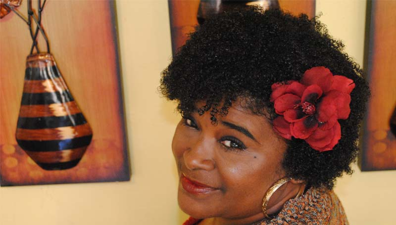 """THE DAILY LEADER / RHONDA DUNAWAY / Taffie Washington went natural two years ago. She had the """"big chop"""" done in July 2012. The big chop is when someone who has been growing their natural hair for a while decides to cut off the hair that was permed."""