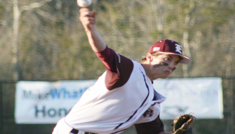 DAILY LEADER / MARTY ALBRIGHT / Enterprise's senior Jackson Cole provided a dominating performance on the mound Tuesday night