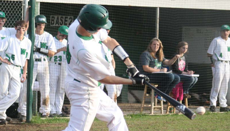 DAILY LEADER / MARTY ALBRIGHT / West Lincoln's Lofton Sills rips a double against Amite County Friday.