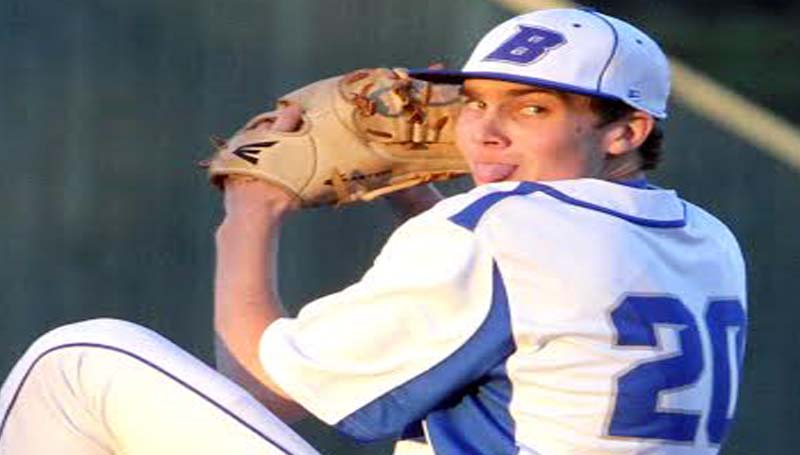 DAILY LEADER / SHERYLYN EVANS / Brookhaven Academy senior Newt Riley pitched a no-hitter against Hartfield Academy Monday night.