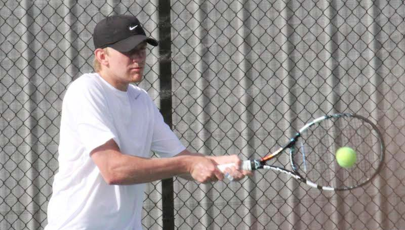 CO-LIN MEDIA / NATALIE DAVIS / Co-Lin's Brandon Nettles of Wesson blanked John Crews of Holmes 6-0, 6-0 in No. 4 singles.