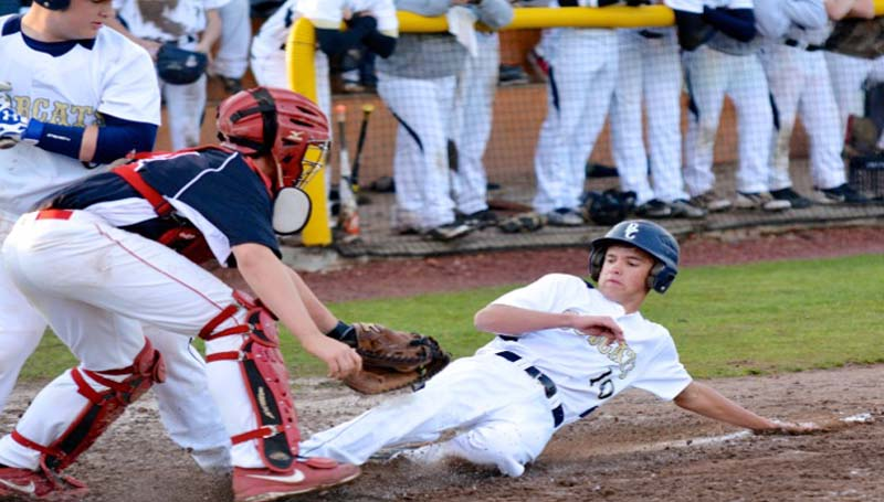 DAILY LEADER / SCOTT BOYD / Bogue Chitto's Steven Ginn is out at the plate attempting to score on a squeeze play in Tuesday's night's 9-0 win over visiting Pelahatchie.
