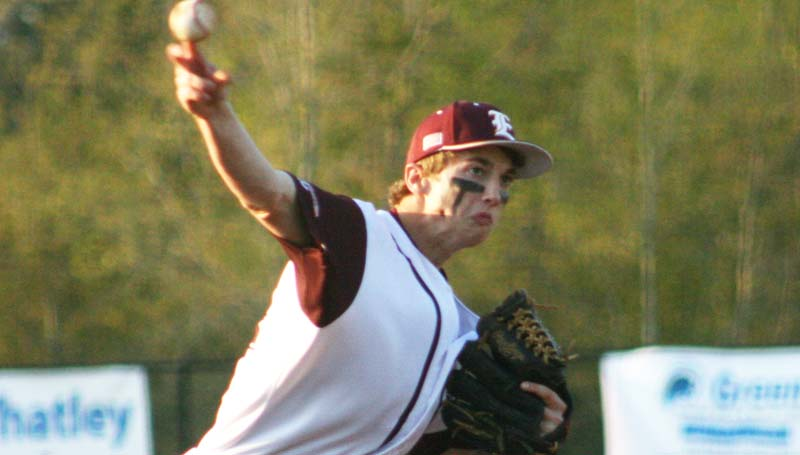 DAILY LEADER / MARTY ALBRIGHT / Enterprise starting pitcher Jackson Cole fans 14 West Lincoln batters Tuesday night.