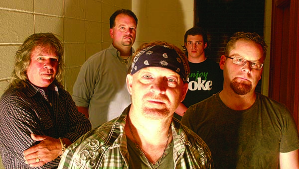 PHOTO SUBMITTED / Members of the Christian rock band, Judahseed, include (from left) Russ DuBose of Georgetown, Michael Flanagan of Byram, Mike Balmer and Ryan Spear, both of Wesson, and Allen Marler of Crystal Springs.