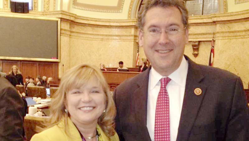 PHOTO SUBMITTED / State Rep. Becky Currie with U.S. Rep. Gregg Harper, pictured at the State Capitol, recently discussed legislation affecting Lincoln, Copiah and Franklin County constituents.