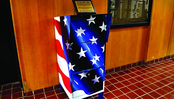 The new flag depository is located on the first floor lobby of the Brookhaven-Lincoln County Government Complex.