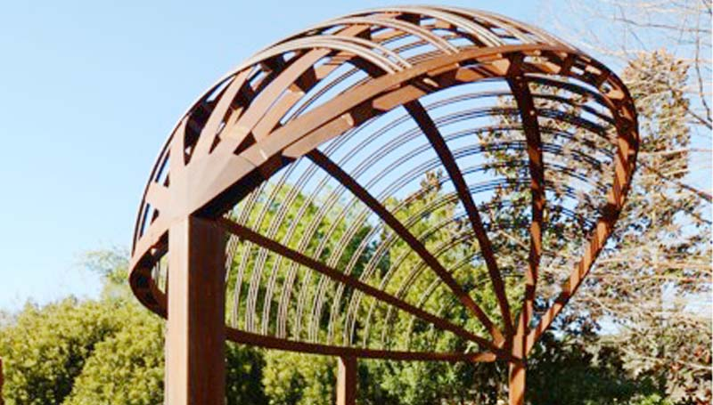 "PHOTO SUBMITTED/ A gazebo, designed by Imagine Ironworks owner James Minter and built at B&O Machine and Welding, won the Silver Award in the ""Top Job"" structures competition during the recent National Ornamental and Miscellaneous Metals Association's METALFab convention in St. Louis."