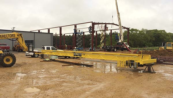 PHOTO SUBMITTED / Reed's Metals Inc. is expanding. Owner Bernie Reed announced this week that his home base in Brookhaven is getting some added floor space. R.K. Wallace Construction Co. of Jayess is doing the work.