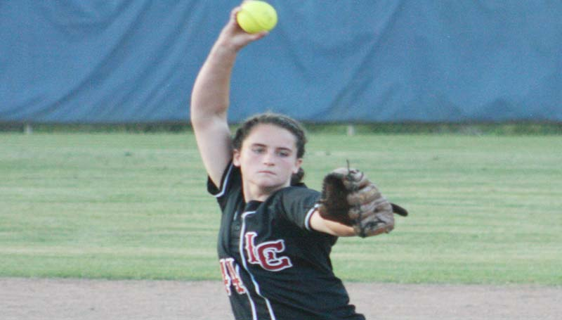 DAILY LEADER / MARTY ALBRIGHT / Lawrence County's Elizabeth Smith prepares to deliver her pitcher against Bogue Chitto.