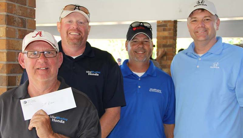 DAILY LEADER / Photo Submitted / SECOND PLACE WINNERS - Mike Whatley Honda secured second place in the King's Daughters Foundation Golf Tournament at the Brookhaven Country Club. Members on the team include Chuck Holloway, Kelvin Locke, Sam Jones and Chris Terrell.