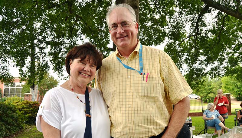 DAILY LEADER / RACHEL EIDE / David and Dixie Simmons have been longtime volunteers with Angels Attic thrift store, which is an outreach program of the Episcopal Church of the Redeemer.
