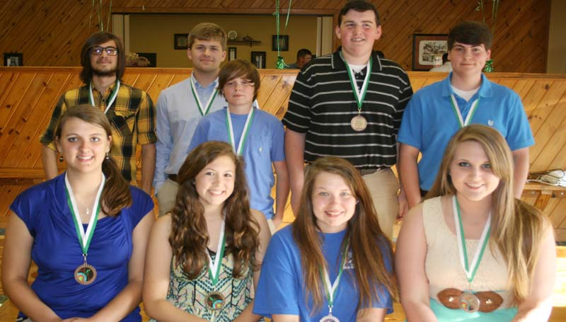 DAILY LEADER / MARTY ALBRIGHT / West Lincoln archery team was honored during the school's sports banquet. Players receiving awards were (girls sitting) Mary Beth Thornton, Most Valuable Bronze Archer; Hope Addison, Most Valuable Gold Archer; Marley Fauver, Most Improved; Savannah Morgan, Most Valuable Silver Archer; (boys standing) Cameron Case, Most Valuable Silver Archer; Brady Dunaway, William Tell Legend Award; Cole Little, Most Valuable Gold Archer; Ryan Smith, Most Improved, Timothy Stogner, Bear Award; Dalton Brown, Most Valuable Bronze Archer.