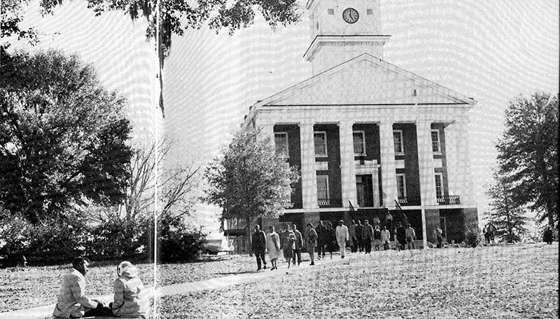 """DAILY LEADER / PHOTO SUBMITTED / Willie B and Josie Hightower on the Alcorn A&M College Campus from the 1961 """"Alcornite"""""""