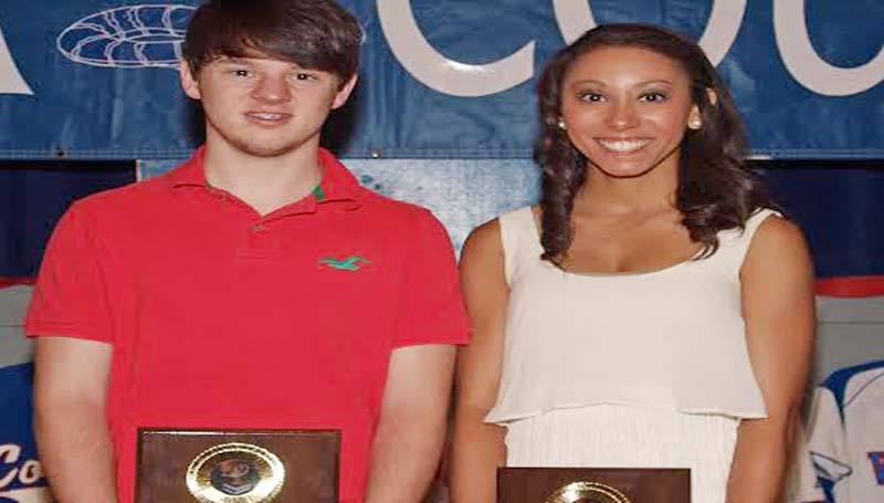 DAILY LEADER / TRACY FISCHER / SCHOLASTIC AWARD - Wesson's Spring Athletic banquet recognized scholastic award winners Andy Bates (left) and Brandi McInnis.