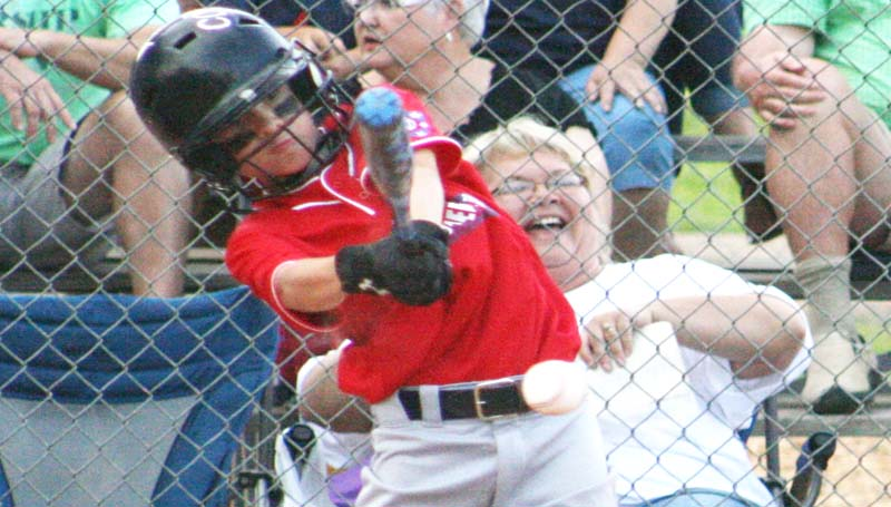 DAILY LEADER / MARTY ALBRIGHT / Colby Terrell collects a hit for the Lincoln County Americans against Natchez Friday night.