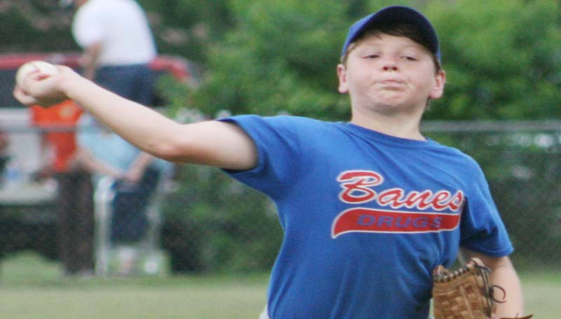 DAILY LEADER / MARTY ALBRIGHT / Collin Waldrop and the rest of the Lincoln County 11-year-old American All-Stars are ready to start action Friday as they host the McComb Americans at Keystone Park.