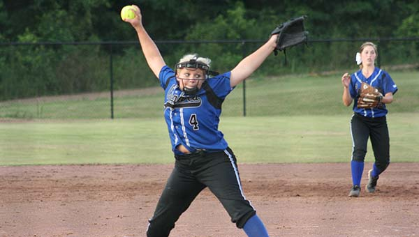 Alex Rae Smith pitched the victory for Brookhaven Academy in their season and home opener Friday night.