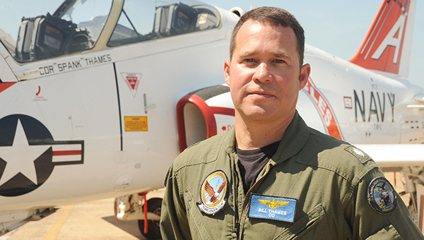 Photo By PENNY RANDALL, Public Affairs Specialist Former Wesson resident, Cmdr. William Thames is incoming commanding officer of Training Squadron 7 at Naval Air Station Meridian.