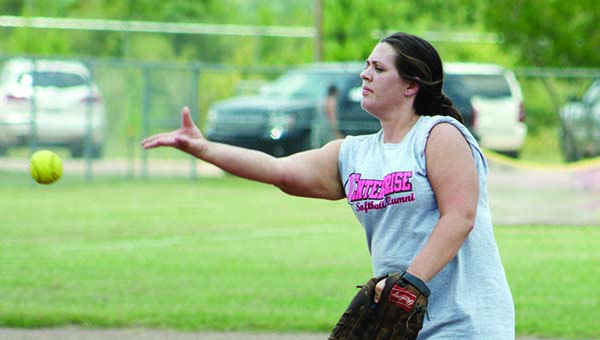 Enterprise Alumni player Nikki Carnley saw some action as a relief pitcher.